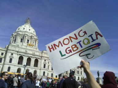 Hmong Trans* & Queers Rally at St. Paul Capitol for LGBTQ Justice & Equity