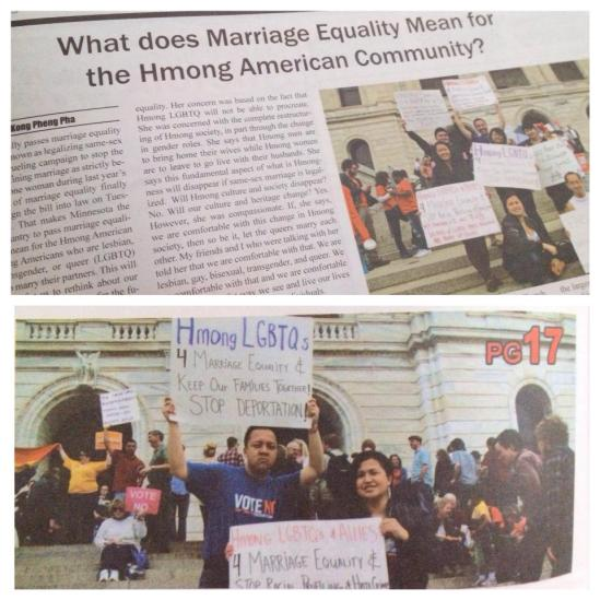 Hmong Today Newspaper: Hmong Americans & Marriage Equality
