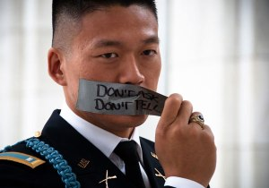 Source: http://www.lgbtqnation.com/2011/10/lgbt-history-month-profile-activist-iraq-war-veteran-lt-dan-choi/ - Lt Dan Choi on DADT