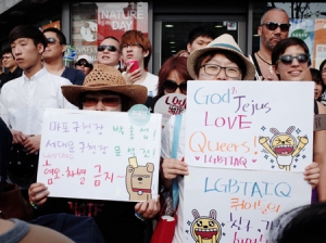 Source: http://www.koreatimesus.com/conservative-groups-disrupt-korean-gay-pride-festival/ - Korea Pride